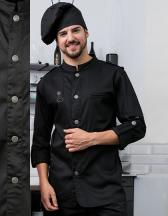Kochjacke Bikerstyle mit Schulterklappen