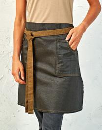 Division Waxed Look Denim Waist Apron